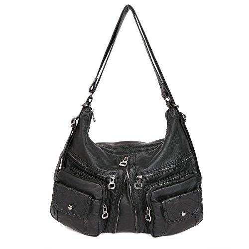 21KBARCELONA Top con zip multi tasche Borse Lavato Borse borse in pelle zaino tracolla XS160989