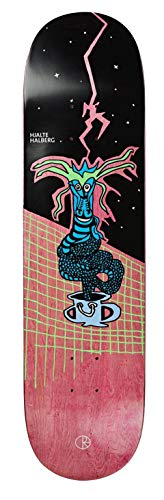 Polar Skate Co Skateboard Dragon Snake HJALTE HALBERG Deck Grip Gratis (Orange, 8.5)
