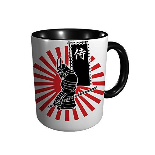 Samurai Taza con texto en japonés D F 11 Gu Division