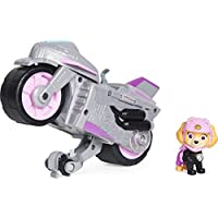 Paw Patrol Moto Pups Skye's Deluxe Pull Back Motorcycle Vehicle with Wheelie Feature and Toy Figure