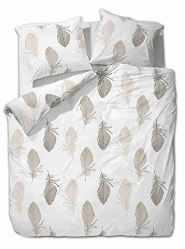 etérea Baumwolle Renforcé Bettwäsche - Federn - weich und angenehm auf der Haut, 2 teilig 135x200 cm + 80x80 cm, Weiß