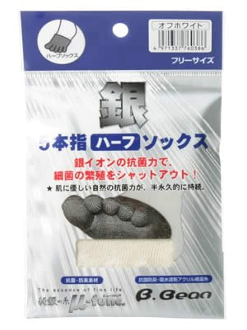 コロニークリーナースナッチ銀5本指ハーフソックス オフホワイト フリーサイズ