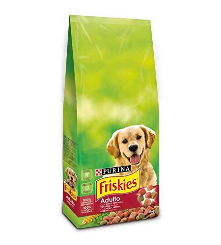 Purina Friskies Crocchette Cane Adulto con Manzo, Cereali e Verdure Aggiunte, Confezione da 15 kg