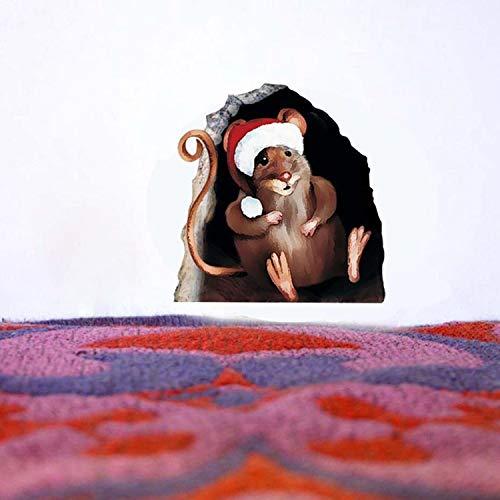 ZYLBL Pegatinas de pared creativas con diseño de sombrero de Navidad, decoración de festivales para niñas y niños, niños pequeños y adolescentes, decoración del hogar, 2 unidades