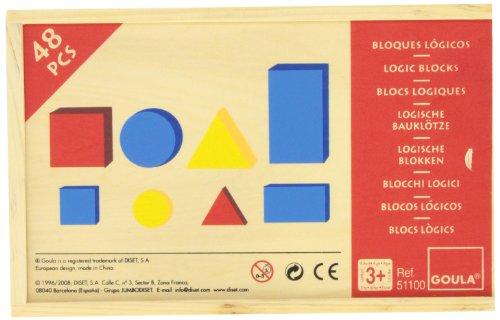 Goula Blocks 1 Bloques Lógicos, Multicolor (Diset 51100)