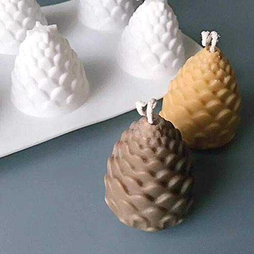 JPZCDK Moldes creativos para fabricar Velas Conos de Pino Molde de SiliconaDIY Fabricación de VelasHechas aMano Moldes para Velas 3D Molde de Cera de Silicona