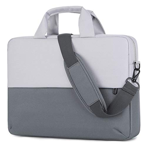 GHC PAD Cases & Covers For Macbook Air Pro, Waterproof Casual Thicken Laptop Bags Strap Handbag Shoulder Portable Tablet Bag For Macbook Air Pro 13 14 15 15.6 Inch (Color : Gray, Size : 14 inch)