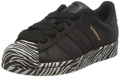 adidas Superstar W, Zapatillas Mujer, Core Black Gold Metallic Cloud White, 50 EU ⭐