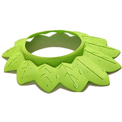 Baby Safe Shampoo Shower Badeschutz Badekappe Soft Visor Hat für Kleinkinder Kinder von TheBigThumb, A-Green