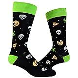 Men's Pizza Weed Alien Socks Funny 420 Munchies Conspiracy Footwear