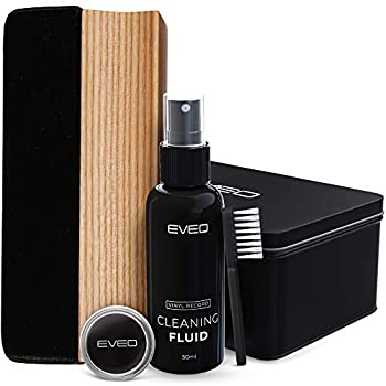 Record Cleaner - 4 in 1 Vinyl Record Cleaner Kit - Includes Ultra-Soft Velvet Brush XL Cleaning Liquid Brush Cleaner and Turntable Stylus Cleaning Gel - Vinyl Records Collection Cleaning Kits
