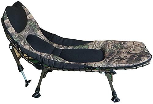 Sillas de patio reclinables plegables – Cama plegable para el almuerzo, cama individual, oficina, reclinable, silla de playa, portátil, duradera