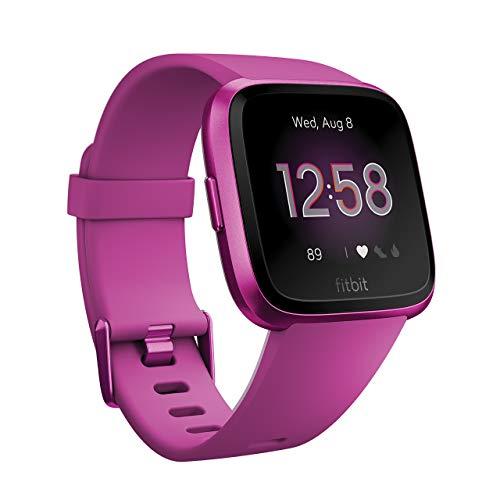Fitbit Versa Lite スマートウォッチ Mulberry L/Sサイズ [日本正規品] FB415PMPM-FRCJK