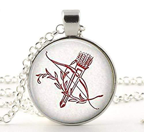 Valentine Bogen und Pfeile Anhänger Halskette, Bogenschießen Schmuck, Valentine, Amor \'s Schleife Schmuck