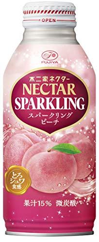 伊藤園 不二家 ネクター スパークリング ピーチ (ボトル缶) 380ml ×24本