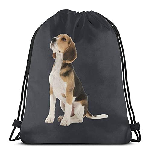 Bolsa con cordón Prideful Beagle Sackpack String Bag Cinch Resistente al agua Bolsa de playa para gimnasio Compras Deporte Yoga 36*42cm