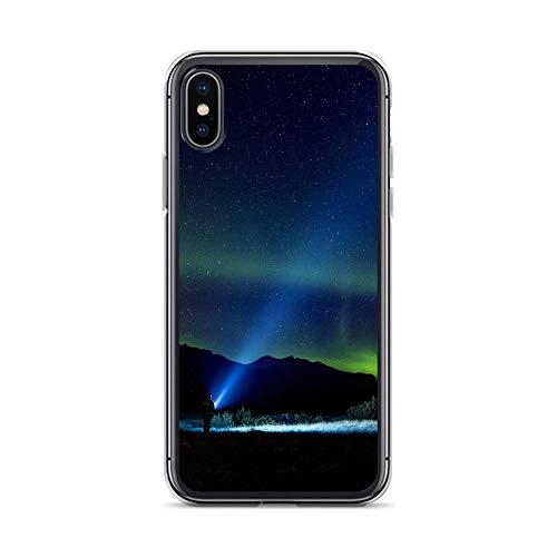 blitzversand Handyhülle Future Moon Samsung Galaxy A3 2015 Taschenlampe Nordlichter Schutz Hülle Case Bumper transparent rund um Schutz M12