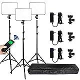 (3 Packs) VILTROX vl-200 Light 30W Bi-Color 3300K-5600K Studio Lights Kit with Stand,CRI 95+ Wide...