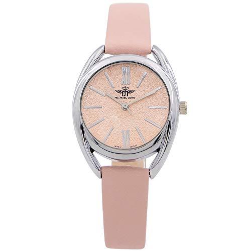Reloj de mujer M. JOHN con correa de piel rosa