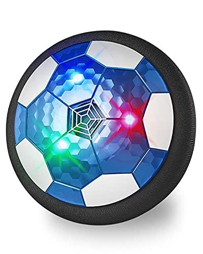 Maxesla Juguete Balón de Fútbol Flotante - Recargable Pelota Futbol con Protectores de Espuma Suave y Luces LED  Air Power Soccer para Niños de 3-12 Años