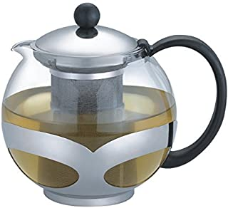 Tempered Stainless Steel 3-Cup Tea Pot w/Removable Steel Infuser, 25 Fluid Ounces by Pride Of India