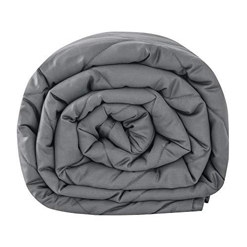 Leefun Gewichtsdecke 135x200CM,10kg Therapiedecke, 100% Baumwolle 7 Schichten Schwere Decke für Erwachsene, Gegen Schlafstörung und Stress, Weighted Blanket für 95-105kg Personen