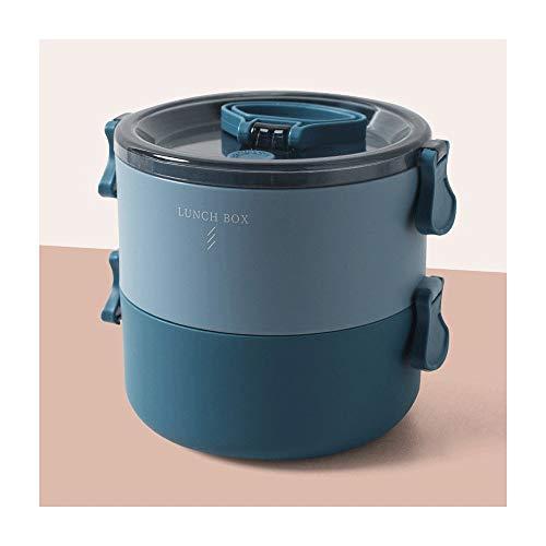 Heigmz FH Bento Box - Fiambrera de múltiples capas ecológica, sin BPA, material térmico para la oficina (color azul 2)