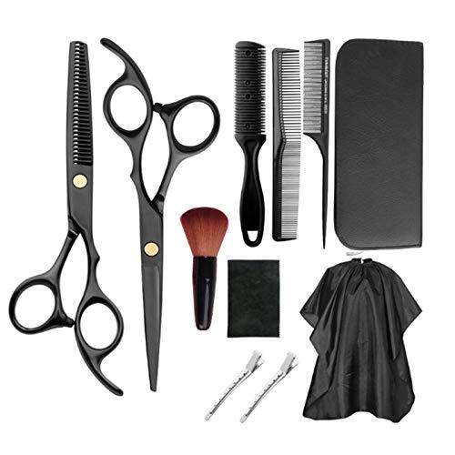 11 Stück Haarschneide-Set, erstklassige scharfe Friseurscheren aus Edelstahl, professionelle Friseur-Sets, perfekte professionelle Epilierschere für Damen, Herren und Kinder