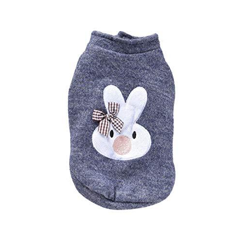 MUXIAND herfst en winter roze grijze kleuren warme hond kleding wol konijn afdrukken voeten jas voor kleine hond puppy vest, L