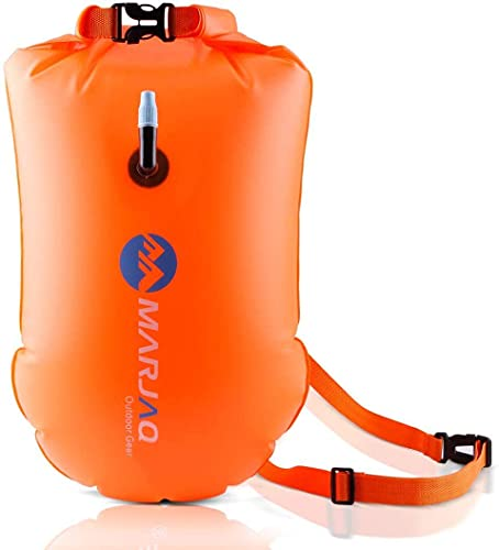 Msrlassn Safer Swimmer Swim Bubble Boa di Sicurezza per Il Nuoto in acque libere con Tasca Impermeabile (Arancione)