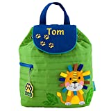 Personalizable de los niños Niños Mochilas | personalizado Stephen Joseph niños mochilas niños | personalizado guardería Mochilas verde Lion