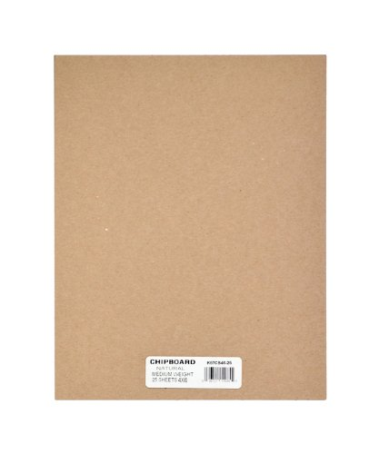 Grafix Spanplatten-Blatt, mittelschwer, 30,5 x 30,5 cm, Weiß, 25 Stück 4' x 6' Natur