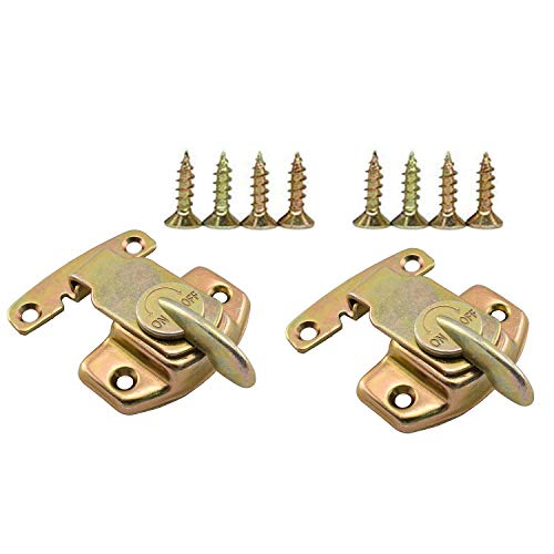 SDTC Tech 2 Pack Dining Table Locks Metal Spring Table Leaf Buckle Latches