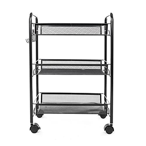 CARCC Rolling Cart Removable Kitchen Trolley Holder Shelf Storage Rack Organizer Living Room