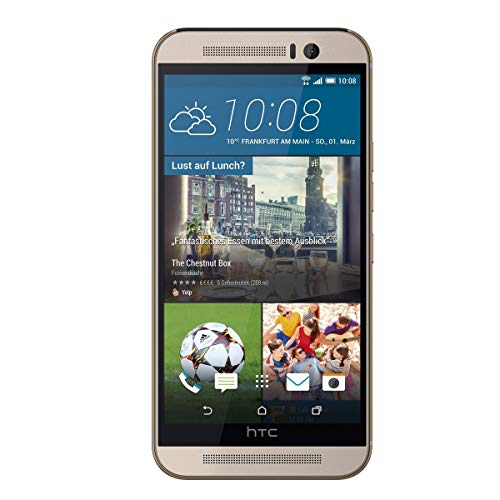 HTC One (M9) - Gold On Silver (5 Zoll (12,7 cm) Touch-Bildschirm, 32 GB Speicher, Android 5.0.2)