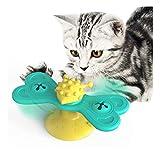 Artículos para mascotas, molino de viento giratorio de mariposa, juguete giratorio para gatos, dispositivo para frotar hierba gatera, cepillo de dientes para gatos frotando la cara y frotando la piel