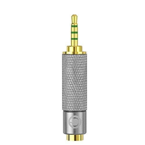 Geekria Apollo 2,5 mm mâle vers 3.5 mm femelle audio stéréo 3 Bague adaptateur jack, 2,5 mm vers 3,5 mm, mâle vers femelle 3 adaptateur prise Bague plaqué