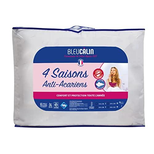Bleu Câlin Piumino, Microfiber, Bianco, 240x260