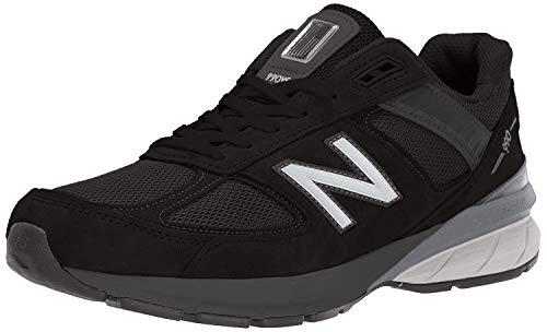 New Balance Men's Made 990 V5 Sneaker, Black/Silver, 11.5 W US
