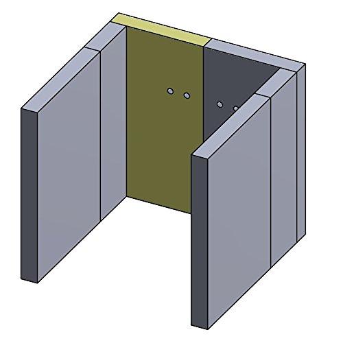 Flamado Feuerraumauskleidung Rückwandstein geeignet für Links/Rechts Mit Bohrung passend für Wamsler Kamin Ersatzteile Kaminofen Brennraumauskleidung Schamotte 320 x 170 x 30 mm 1.350°C