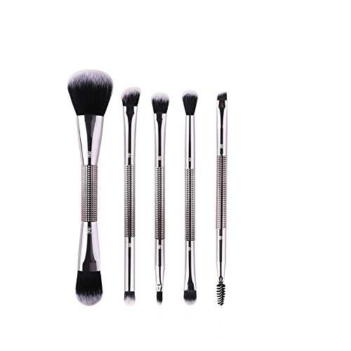 Xiton Diamant Maquillage Kit brosse 5PCES Double End pinceaux de maquillage doux synthétique brosse cosmétiques maquillage outil Fond de teint crème Pinceau Poudre Kit avec sac à glissière