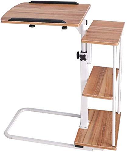 XHLLX Mobil Schreibtisch Folding, Forliving Zimmer Schlafzimmer Schlafsofa Laptop-Schreibtisch Mit Storage Magazine Rack Snack Tisch Computerstand,D