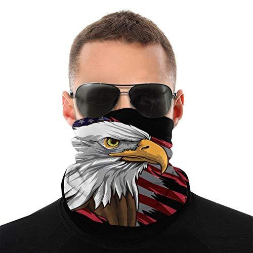 Bandana máscara facial con bandera americana y cuello de águila unisex, variedad de bufandas, bufandas para el sudor