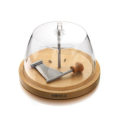 Boska Holland European Beech Wood Cheese Curler Geneva with Dome - Explore Collection