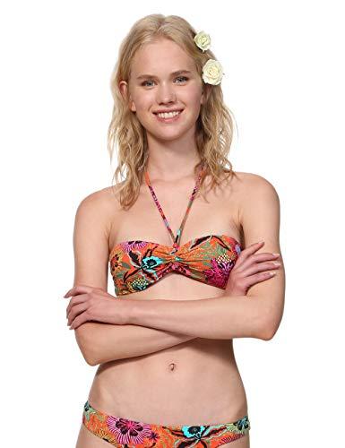 Desigual Floral Print Melina - Tops de bikini Mujer, Rojo Roja 3061, Talla L