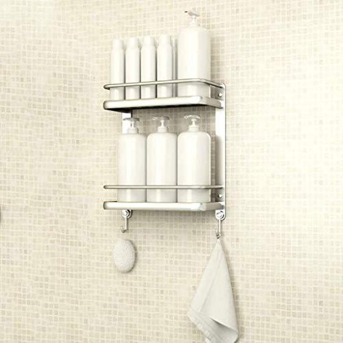 MENG Badregal Shelf Schlags-Free Space Aluminium Badezimmer Küche Rack-Badezimmer-Anhänger Badezimmer-Rack Handtuchwärmer Durable (Größe: 34 * 15 * 42cm), Größe: 34 * 15 * 42cm Duschraum Sims