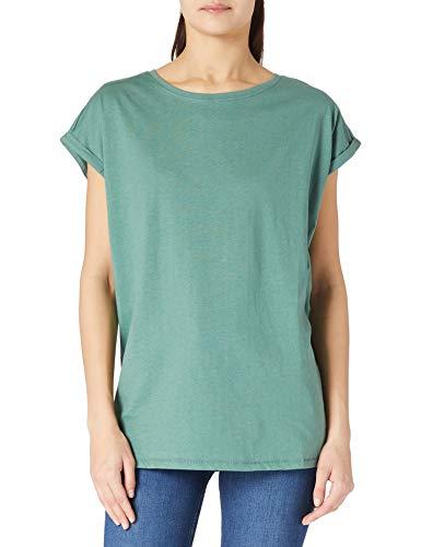 Oferta de Urban Classics Ladies Extended Shoulders tee Camiseta, Paleleaf, M para Mujer