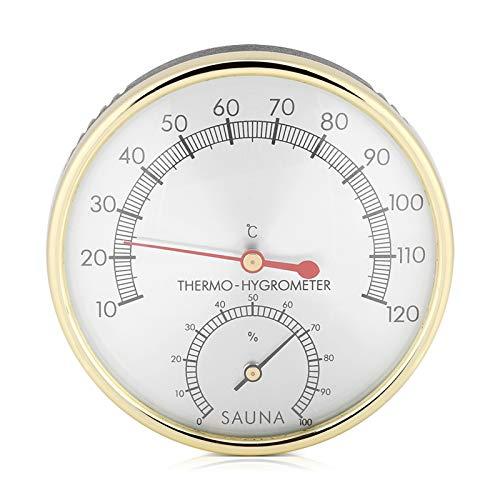Igrometro per sauna con quadrante in metallo ad alta precisione, per ambienti interni per casa, ufficio, officina, magazzino