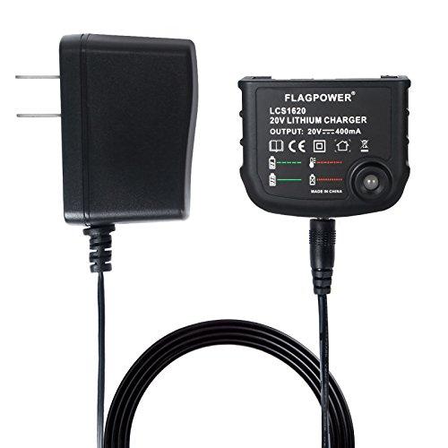 FLAGPOWER 20V Lithium Battery Charger LCS1620 20V Li-Ion Battery Charger for Black+Decker 16V 20V Lithium Ion Battery LBXR20 LBXR20-OPE LB20 LBX20 LBX4020 LB2X4020 LBXR2020-OPE BL1514 LBXR16