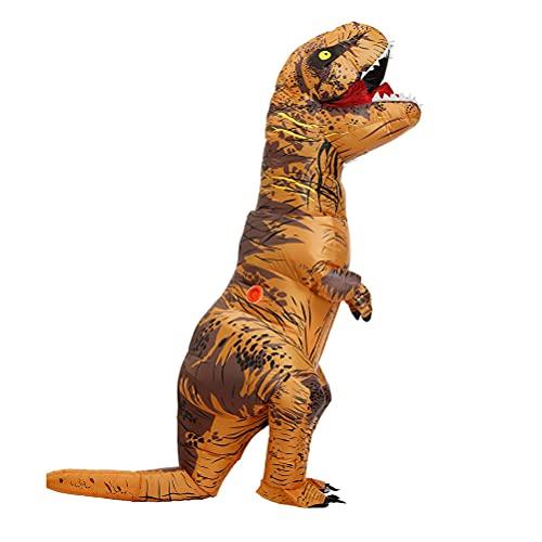 LIDIWEE Aufblasbares Kostüm T-Rex Dinosaurier Gesicht Enthüllendes Design Inflatable Costume für Halloween Festival Fasching Karneval, Erwachsene